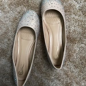 Shoes - Rose gold glittery flats
